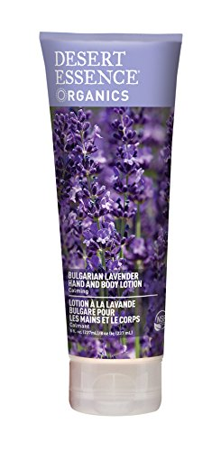 Desert Essence Organics Hand & Body Lotion, Bulgarian Lavender, 8 Ounce - Essence Lotion