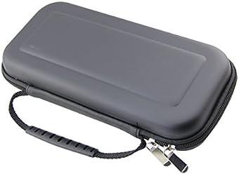 booEy Tasche für Nintendo Switch Case / Cover / Hülle / Schutzhülle / Hartschalentasche / Aufbewahrungstasche in Schwarz mit Reißverschluss und Handschlaufe