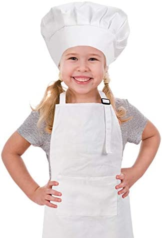 Baby Chef Apron+Hat For Kids Costume Photo Cotton Cook Prop us chic