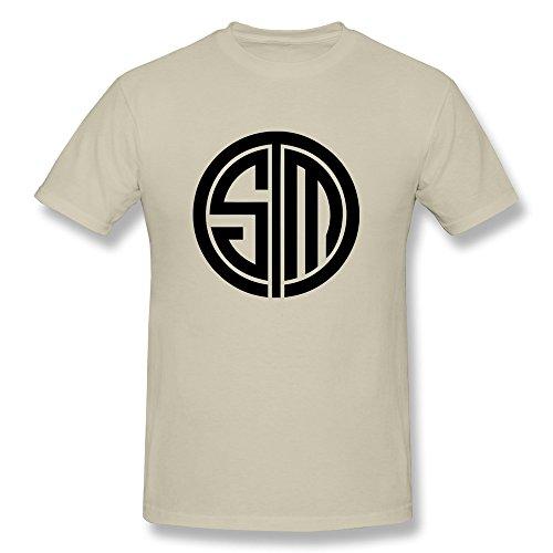 Price comparison product image RIDA Tsm Team Solomid Swords Logo T-shirts For Men Large Natural