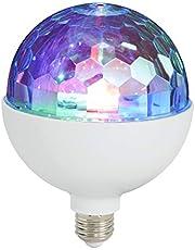 Briloner Ledverlichting, partylamp, partylamp met lichteffect, discolicht, zelfdraaiend, lampen, discolichteffecten, led-lamp, discobal, kunststof, 3 W, wit, 12,5 x 12,5 x 16 cm
