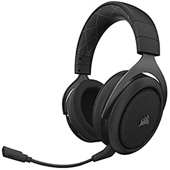 f8b56cf805d Corsair HS70 Wireless Gaming Headset - 7.1 Surround Sound Headphones for PC  - Discord Certified - 50mm Drivers - Carbon