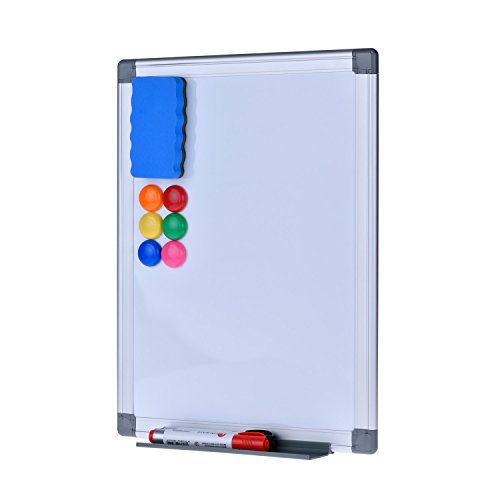 Magnetic Dry Erase Board - EFIRNITURE 12x15 inch Aluminum Frame Wall Mounted Whiteboard, 6 Magnets, 2 Marker Pens, 1 Eraser, and Removable Marker Tray Included by EFIRNITURE (Image #1)