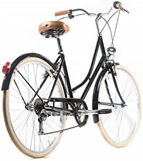 Capri Bicicleta de Paseo Barcelona Negro-Crema 6 Velocidades: Amazon.es: Deportes y aire libre