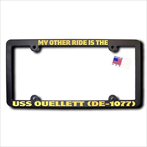My Other Ride USS OUELLETT (DE-1077) REFLECTIVE GOLD TEXT Frame -  James E. Reid Design, MORDERG-458