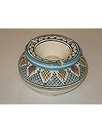 Moroccan Ceramic outdoor ashtray - Smokeless ashtray with lid