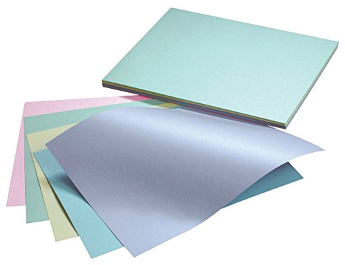 Pacon Reminiscence Card Stock, 65 lb, Letter, Assorted Pastel Pearl Colors, 50/Pack - Pacon Cardstock Array