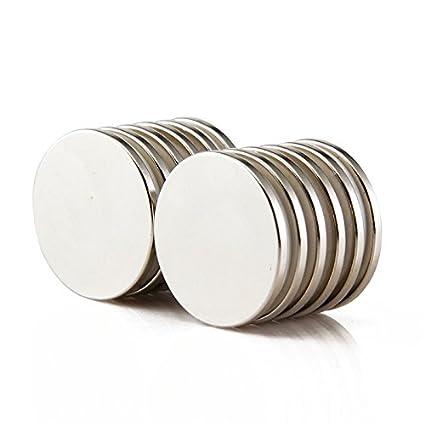 Sunkee 5pcs Pequeño y redondo imanes de disco de diámetro 25 mm x 2 mm N50
