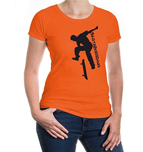 Girlie T-Shirt Skateboarding Orange