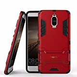 Heartly Huawei Mate 9 Pro Back Cover Graphic Kickstand Hard Dual Rugged Armor Hybrid Bumper Case - Hot Red