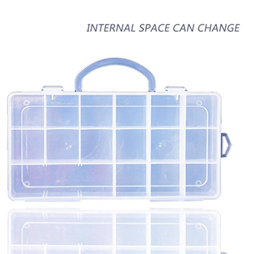 Gbell 18 Compartments Storage Case Carrying Box Accessories For Lol Surprise Dolls  Clear