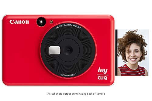Canon IVY CLIQ Instant Camera Printer, Mini Photo Printer with 2″X3″ Sticky-Back Photo Paper(10 Sheets)