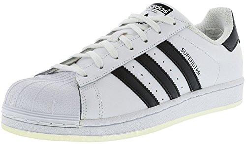 adidas Originals Men's Superstar Sneaker, White/Black/White, 14 M US - Exclusive Olympic Star