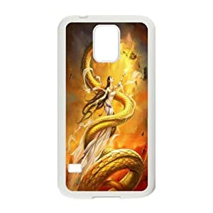 Best Phone case At MengHaiXin Store Dragon Art Desigh Pattern 22 For Samsung Galaxy S5