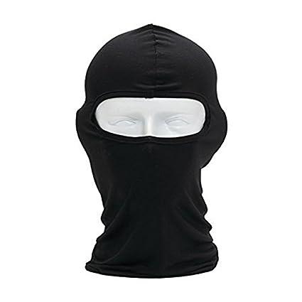 ZN Doux Masque de protection thermique Cagoule sous casque respirant Cyclisme Masque Masque de sports femme Homme Orange
