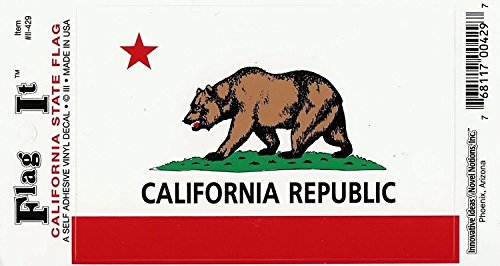 California State Flag Car Decal Sticker [3.5x5