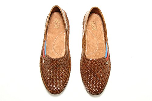 Mens Shoes Brown Flat Belle Kolhapuri Style Chappal Leather Flop Slippers Loafers aPwaI
