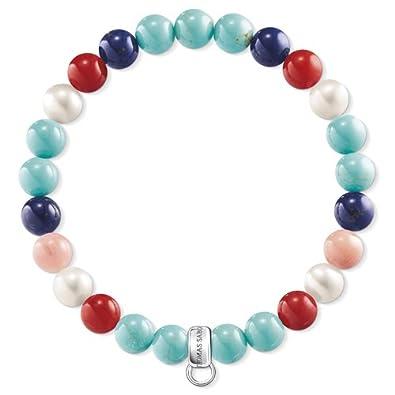 Thomas Sabo Charm Bracelet, Pink, Turquoise, Brown X02169447