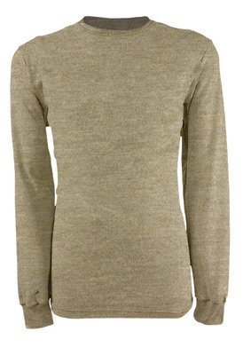 National Safety Apparel C541N4XBSLTN 4X Tan 6.5 oz CARBONCOMFORT Flame Resistant Long Sleeve Henley Shirt (1/EA)