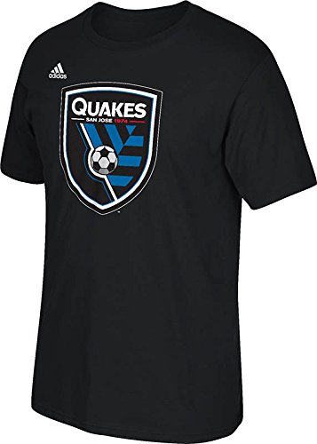 fan products of MLS San Jose Earthquakes Men's Logo Set Tee, Small, Black