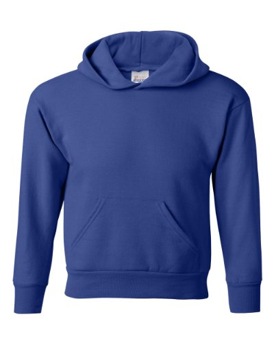 Hanes Youth EcoSmart Pullover Hood, Deep Royal, Large by Hanes (Image #1)