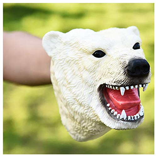 - Animal Hand Puppets, Open Movable Mouth, Soft Rubber Puppets Toys Animal Gloves Child Gift for Kids- Perfect for Storytelling, Teaching, Preschool, Education (Polar Bear)