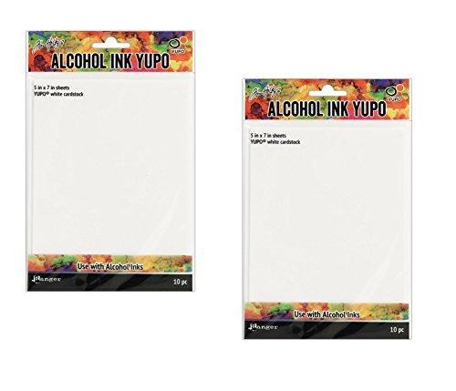 - Ranger Tholtz Alcohol Ink Yupo Paper 5x7 White (2 packs)