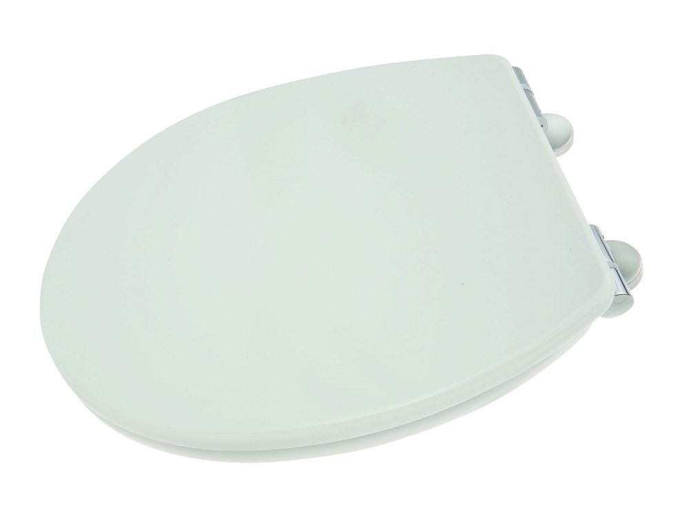 Croydex Haughton Anti-Bacterial Toilet Seat with Soft Close Hinges and Quick Release For Easy Fitting WL400122H Bathroom Fittings Bathroom_Accessories Toilet Seats