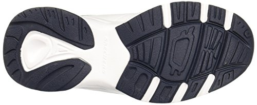 Scarpa da ginnastica SKECHERS 58355/BBK Uomo Memory Foam White/navy