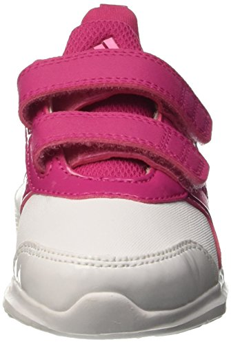 adidas Hyperfast 2.0 Cf I, Zapatos de (1-10 Meses) Bebé Blanco / Rosa (Ftwbla / Sebrro / Eqtros)