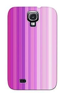 Crazinesswith Galaxy S4 Hybrid Tpu Case Cover Silicon Bumper Purple Lines