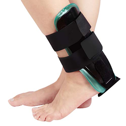 Air-Cool Gel Ankle Support Brace Splint for Relief Strains Sprains Arthritis Pain Air-Stirrup Ankle Support Brace (Black) ()