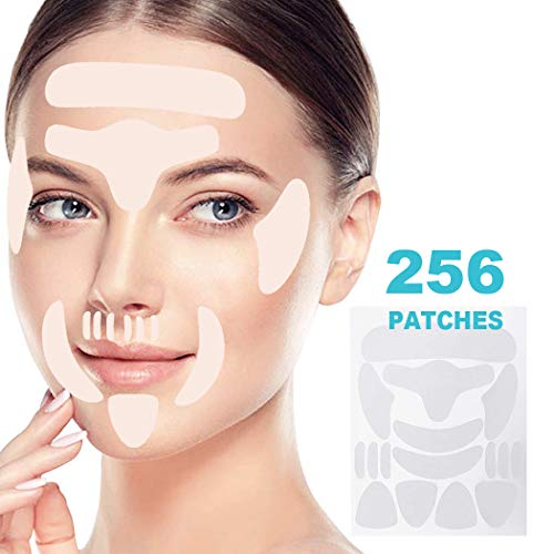 41 RfIQ4rLL - Face Wrinkle Remover Strips, Reusable Anti-Wrinkle Face Pads, Face Tape Smoothing Wrinkle Patches for Forehead Wrinkles, Eye Wrinkles and Mouth & Upper Lip Wrinkle, Wrinkles Treatment, Set of 256pcs