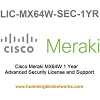 Meraki MX64W Advanced Security License and Support, 1 Year, Electronic Delivery
