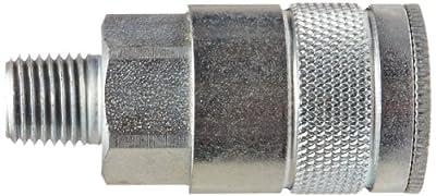 """Dixon Valve DC7 Steel Air Chief Automotive Interchange Quick-Connect Air Hose Socket, 3/8"""" Coupler x 1/4"""" NPT Male Thread, 70 CFM Flow Rating"""