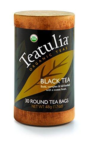(Teatulia Organic Black Tea 6 Canisters x 30 Standard Tea Bags)