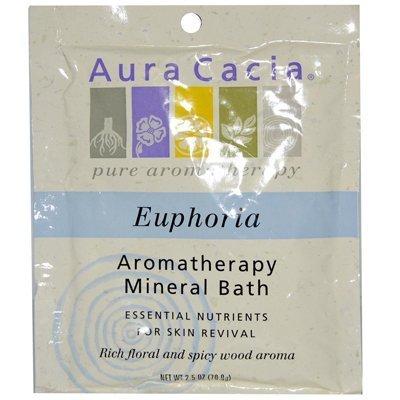 Euphoria Aromatherapy Mineral Bath (Aura Cacia Aromatherapy Mineral Bath Euphoria - 2.5 oz - Case of 6)