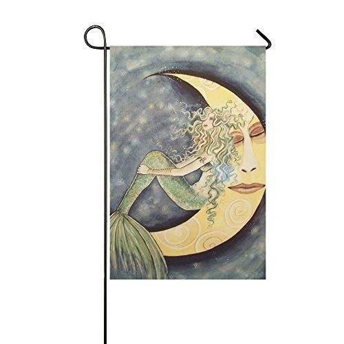 outdoor decorative flags - Mermaid Moon Stars Fairytale Romance Garden Flag, 12