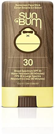 Sun Bum Premium Sunscreen Face Stick, SPF 30, 1 Count, Broad Spectrum UVA/UVB Protection, Paraben Free, Gluten