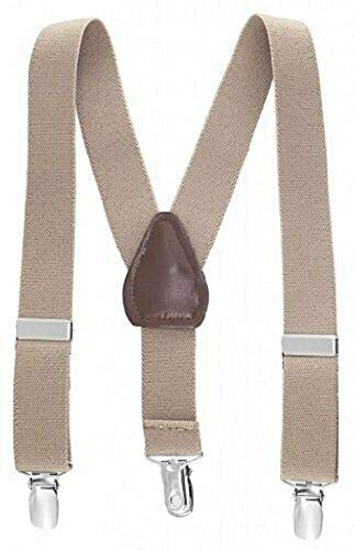 Beige Kids Toddlers Suspenders Fashion Boys Girls US Ship Free Size Tkmiss from Unknown