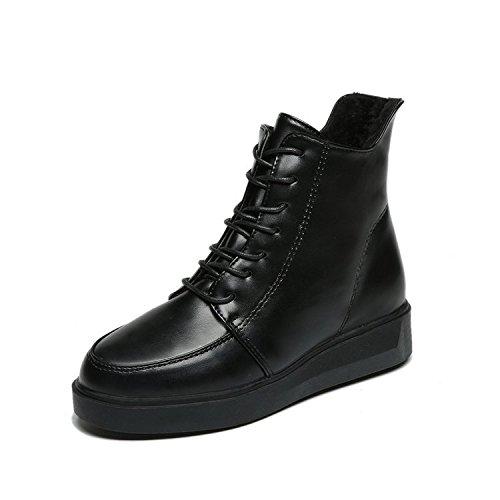 Y Thirty Cabeza 35 Versátil Plus Terciopelo Negro eight Viento Zapatos De Redonda Inglés Algodón Botas Martin Femenina KPHY Invierno De De Botas Invierno De 8BwC6C