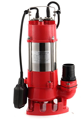 Hallmark Industries MA0387X-8 Sewage Pump with Float Switch, 5600 gpm, Stainless Steel, Heavy Duty, 3/4 hp, 115V, 38' Lift, 20' Cable by Hallmark Industries (Image #9)