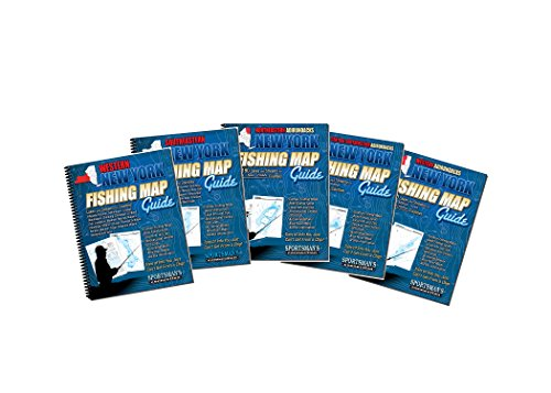 New York Fishing Map Book Guides Set