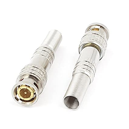 DealMux 2pcs Guarda Primavera Vídeo RF BNC Male Jack conector do adaptador para cabo coaxial Cabo