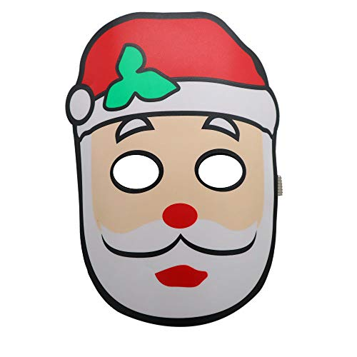 YIYEZI Christmas Party Ball LED Mask Led Sound Reactive Music Light Up Adjustable Mask Toy (A)