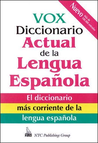 Vox Diccionario Actual De La Lengua Española VOX Dictionary Series ...