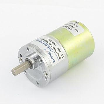 6 milímetros de diâmetro de saída Shank 24V 0.33A DC velocidade Reduzir engrenagem Motor 600rpm
