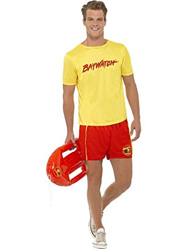 SmiffyS SM32868-M Mens Baywatch Beach Costume Size Large,Multicoloured]()