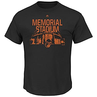 Majestic Mens MLB Prime Time Comeback T-Shirt (S, Baltimore Orioles)