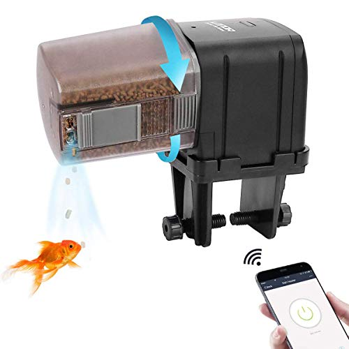 Upgrade-WiFi-Control-Automatic-Fish-Feeder-with-APP-Lychee-Aquarium-Automatic-Fish-Feeder-WiFi-Control-Auto-Fish-Food-Dispenser-for-Home-Office-Black